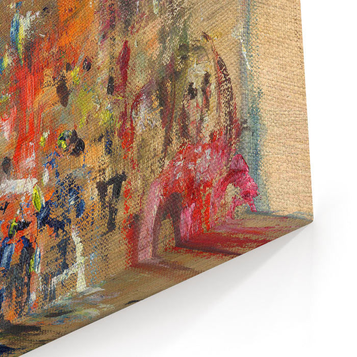 Street In Paris  Illustration, Oil Painting Canvas Wall Art Print