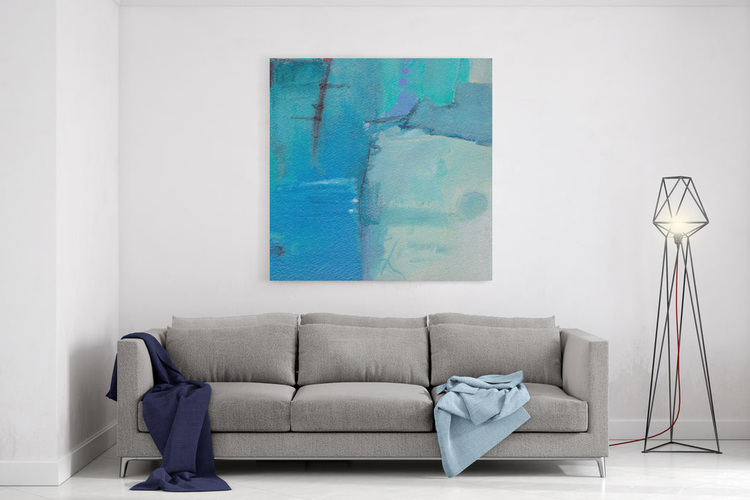 Abstract Grunge Background  Brush Strokes On Paper With Space For Text Canvas Wall Art Print