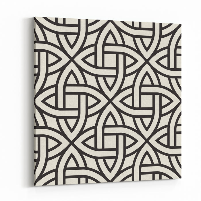 Celtic Seamless Pattern Abstract Vintage Geometric Wallpaper Vector Illustration Canvas Wall Art Print