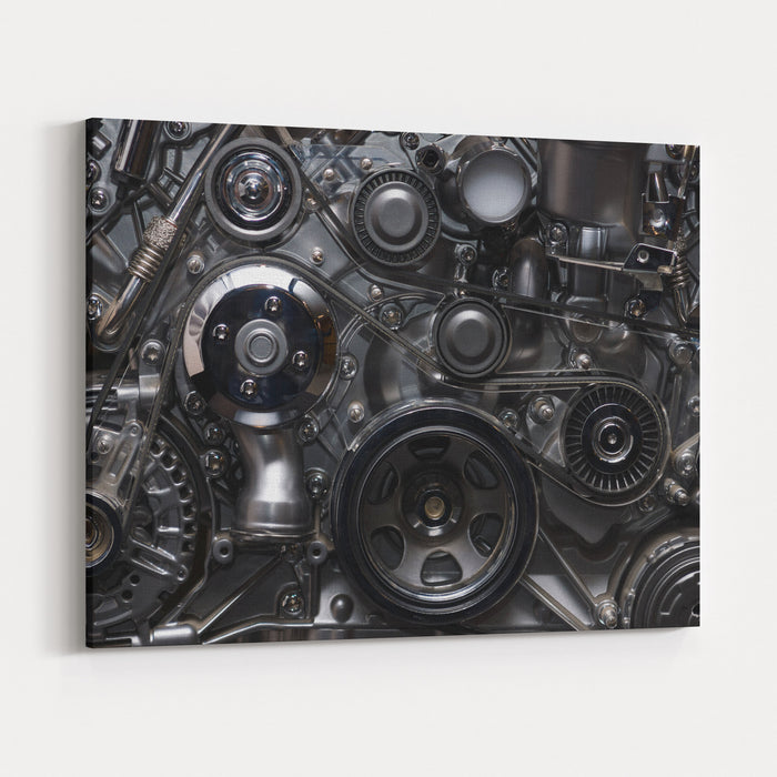 A Fragment Of The Engine Canvas Wall Art Print