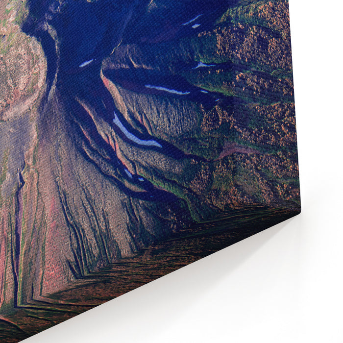 Aerial Shot One Of Volcanoes In Kamchatka Canvas Wall Art Print