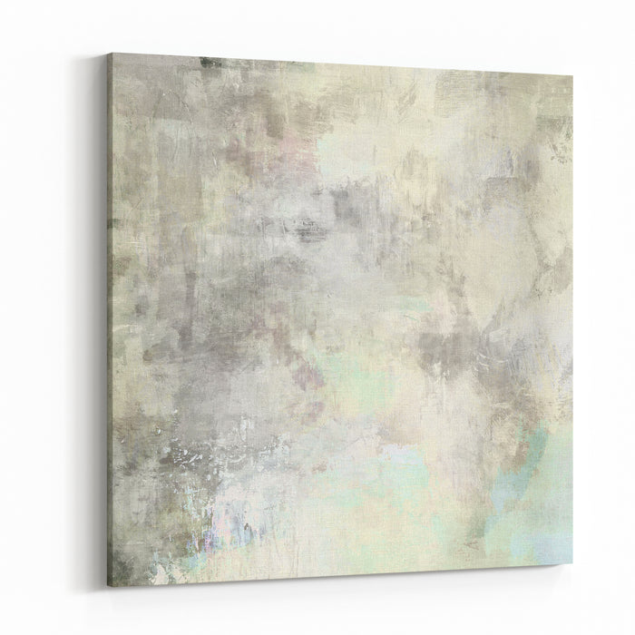 Art Abstract Acrylic Background In Light Grey And White Colors Canvas Wall Art Print