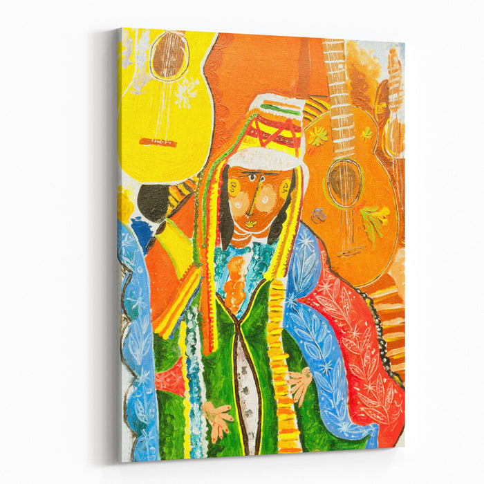 The Image Of Women In National Costume Canvas Wall Art Print