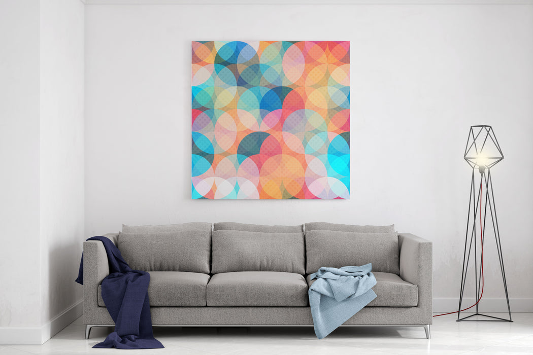 Colored Circle Seamless Pattern Canvas Wall Art Print