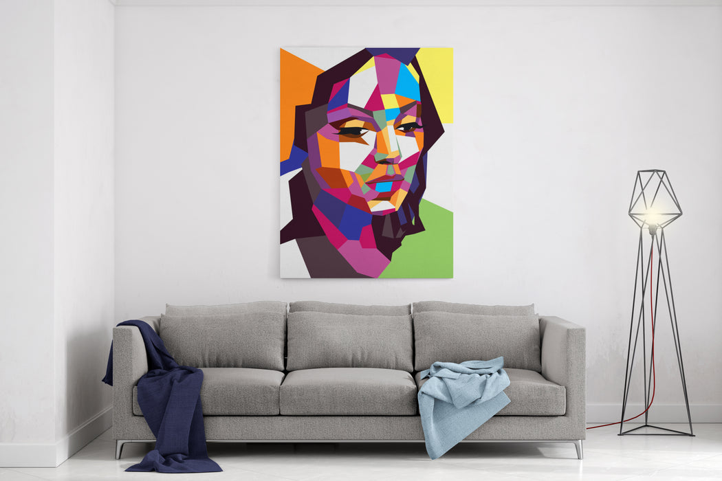 Abstract Portrait Canvas Wall Art Print