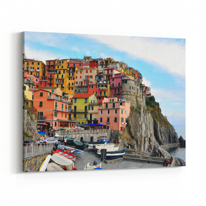 Amazing Landscape, Liguria, Italy Canvas Wall Art Print