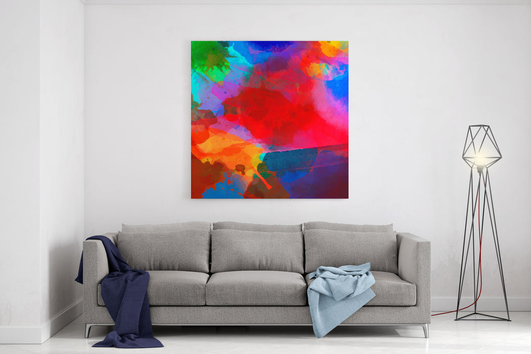 Abstract Watercolor Palette Of  Blue Colors, Mix Color, Background,vector Illustration,a Mixture Of Colors, Stains With A Spray Of Water Colors, The Authors Work Canvas Wall Art Print