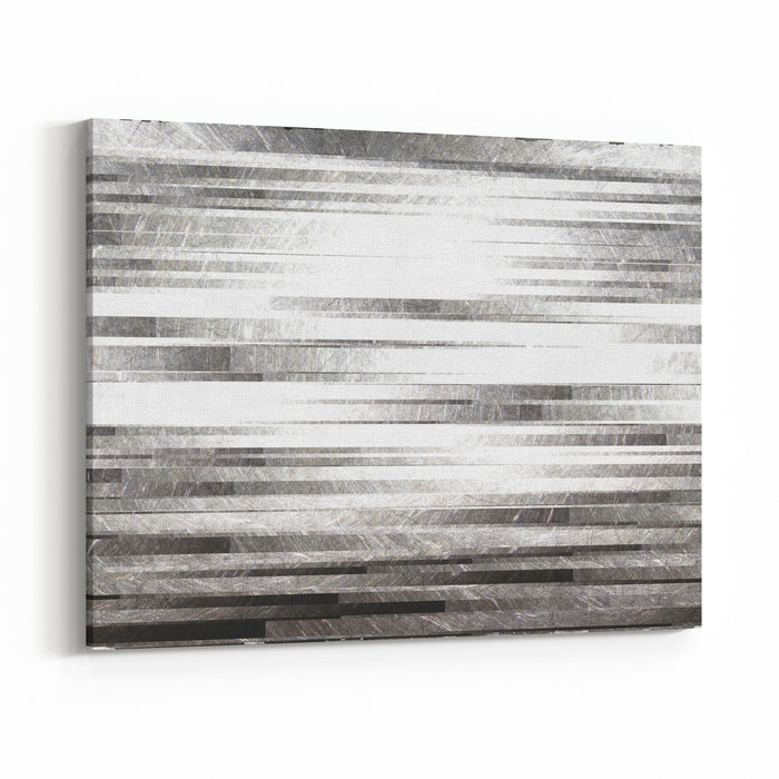 The Image Of Grey Background With Strips Canvas Wall Art Print