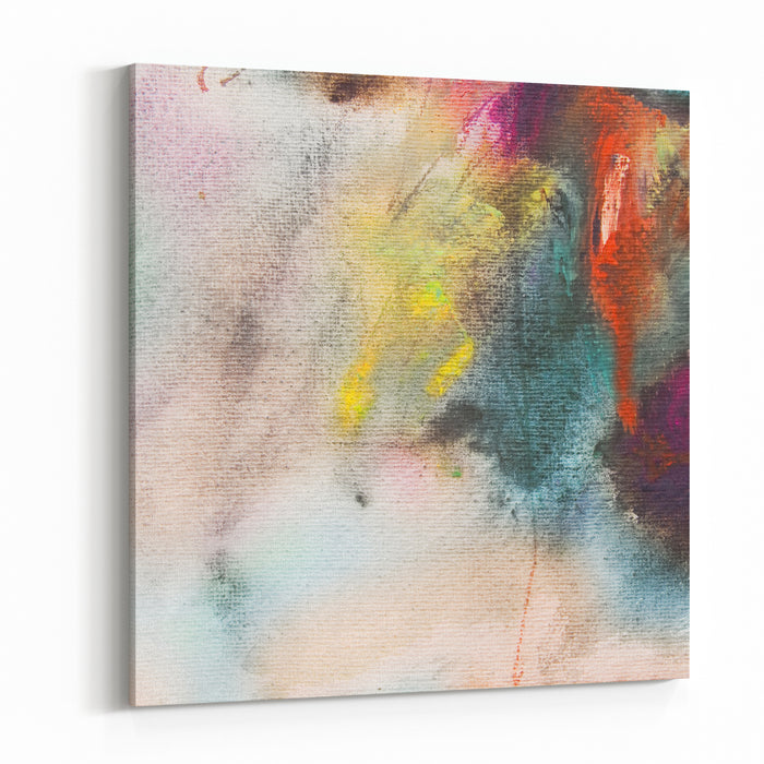 Abstract Painting On Handmade Paper Art Background Canvas Wall Art Print