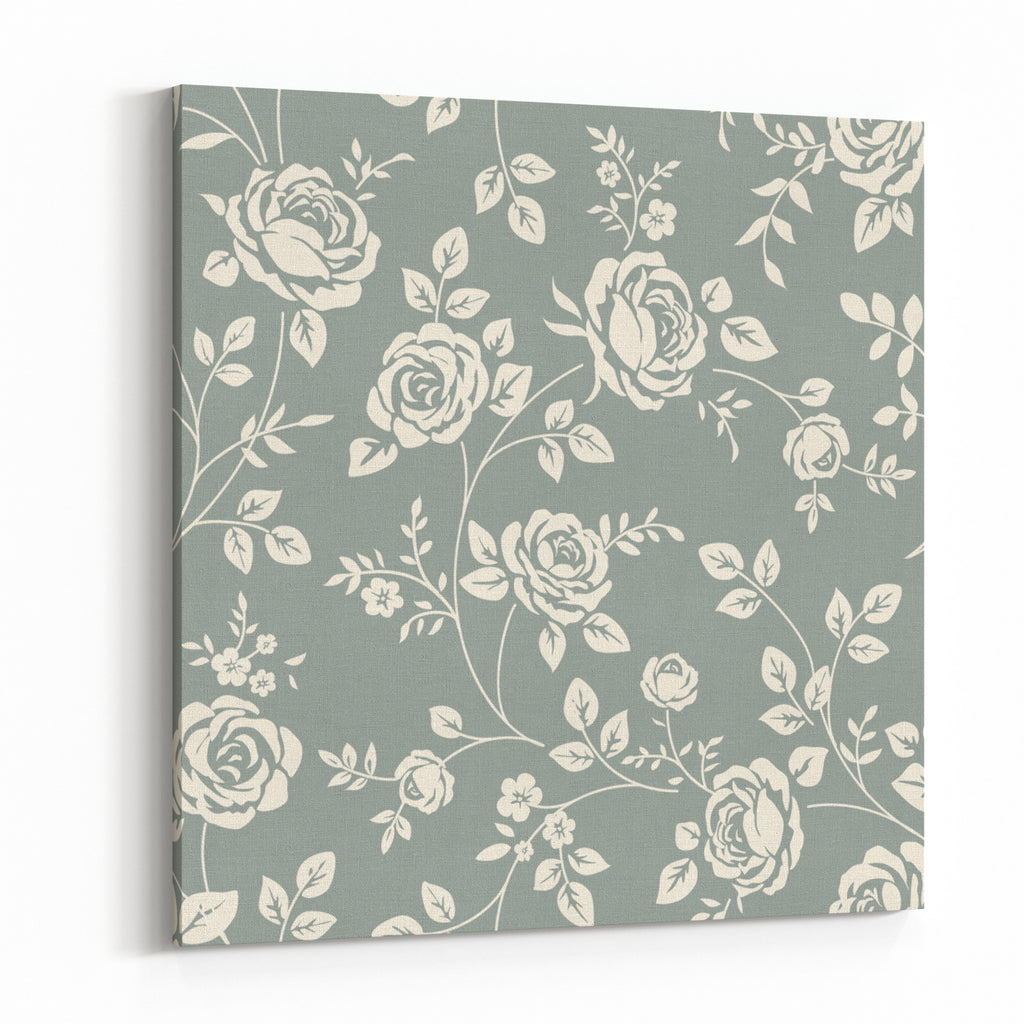 Vector Seamless Pattern With Flowers Vintage Background With