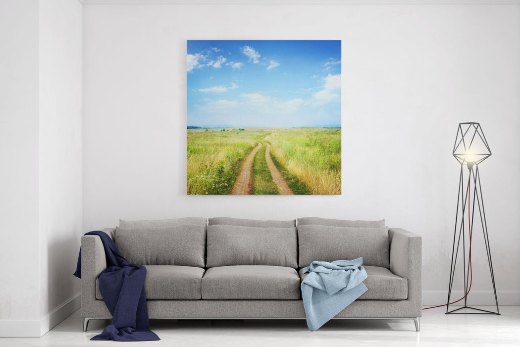 The Road In Rural Areas Canvas Wall Art Print