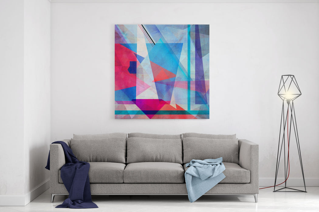 Bright Colorful Abstract Background Of The Various Elements On Watercolor Background Canvas Wall Art Print