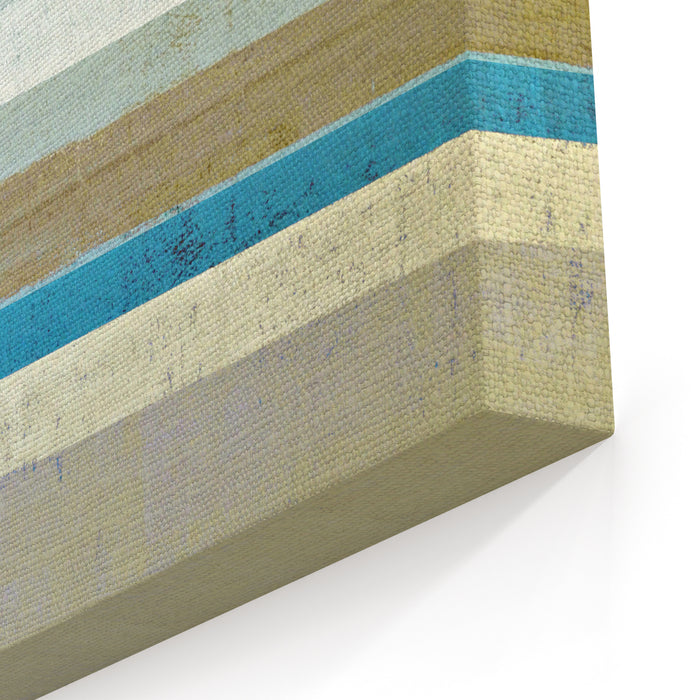 Blue And Beige Abstract Art Painting Canvas Wall Art Print