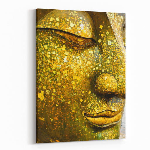 The Face Of Buddha Canvas Wall Art Print