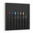 Set Beautiful Black, Colored Pencils Of Colored Pencils On Black Background Soon To School Back To School Canvas Wall Art Print