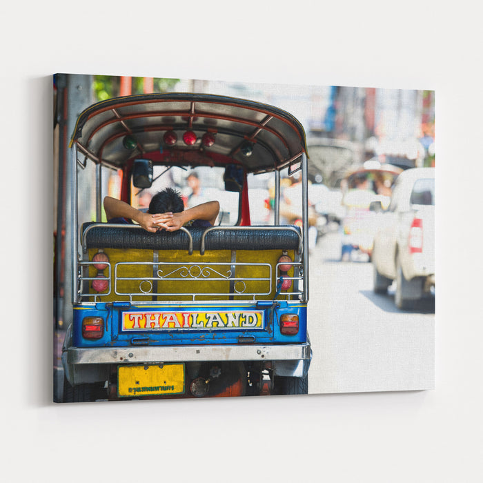 Backside TukTuk Thailand Car Scooter Canvas Wall Art Print