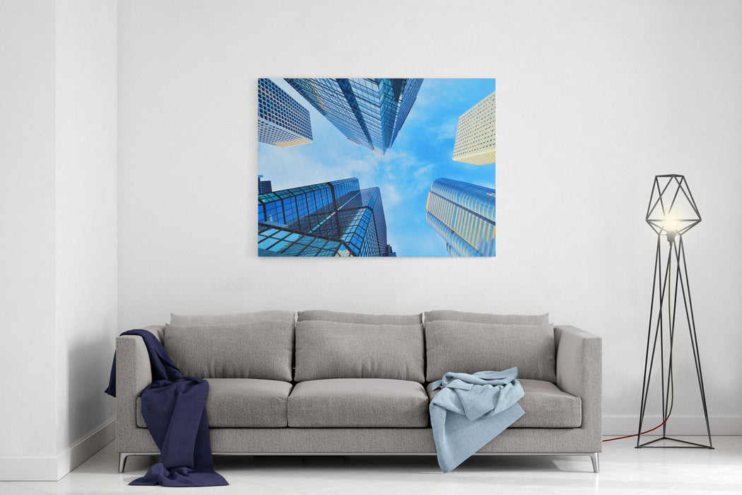 Corporate Buildings Canvas Wall Art Print