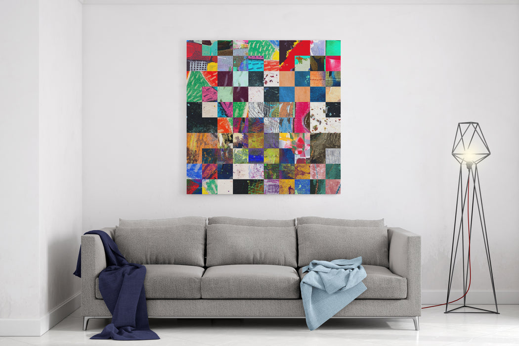 Abstract Painting, Digital Collage Canvas Wall Art Print