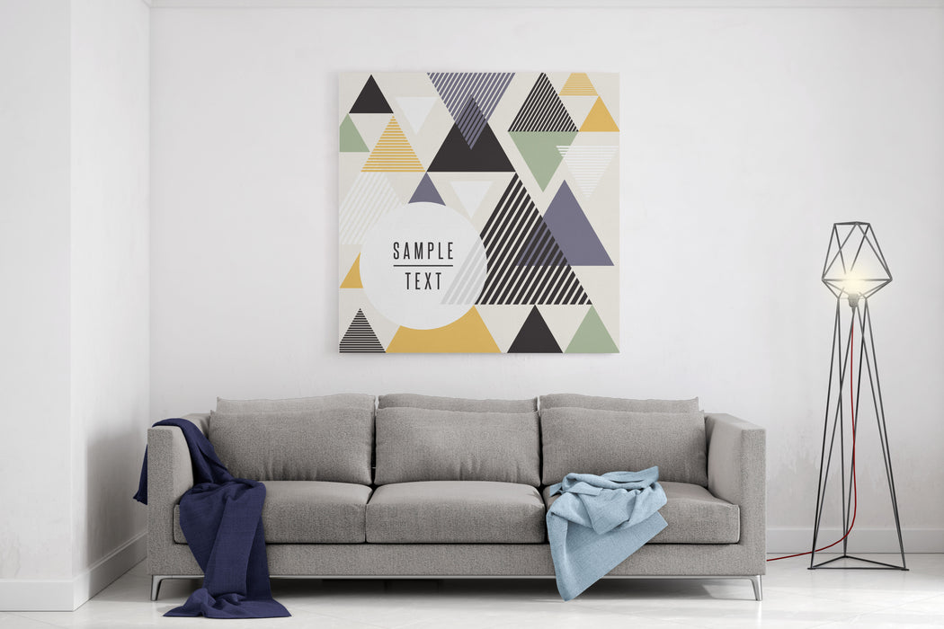 Abstract Triangle Design With Text Canvas Wall Art Print