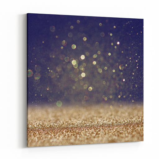 Glitter Vintage Lights Background Defocused Canvas Wall Art Print