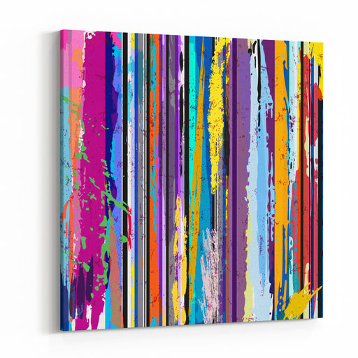 Abstract Background, With Lines, Strokes And Splashes Canvas Wall Art Print