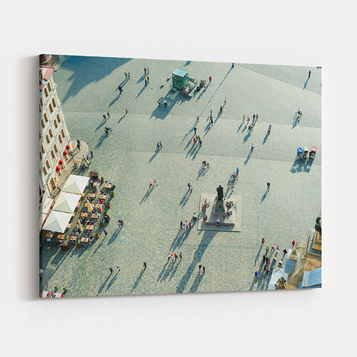 Aerial View Of  Neumarkt Square In Dresden, Germany Canvas Wall Art Print