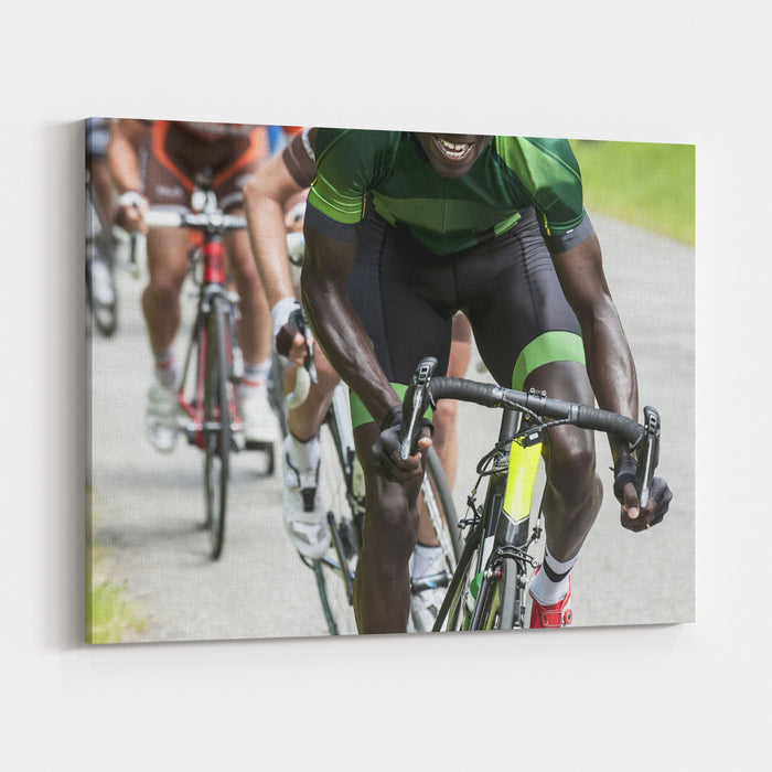 Professional Cycling Race Canvas Wall Art Print — Rosenberry Rooms