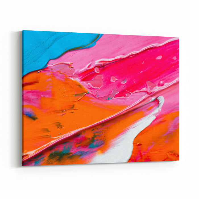 Abstract Art Background Handpainted Background SELF MADE Canvas Wall Art Print