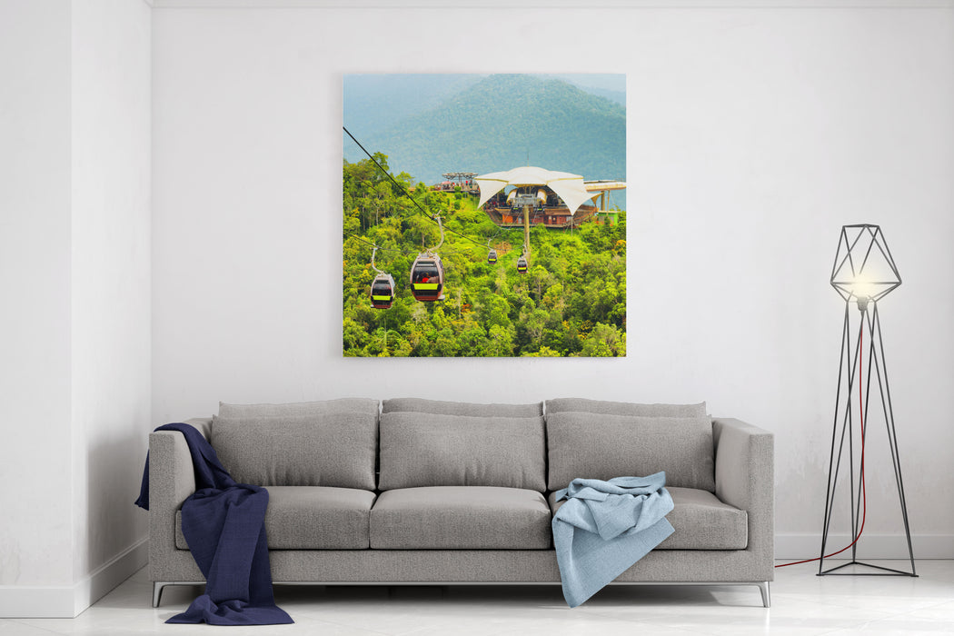 Cable Car On Langkawi Island, Malaysia Canvas Wall Art Print