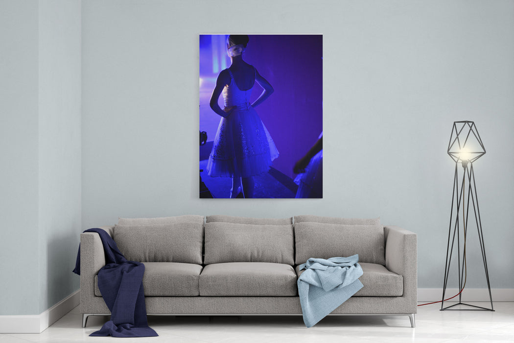 Dancer Standing Backstage Waiting For Her Performance Canvas Wall Art Print