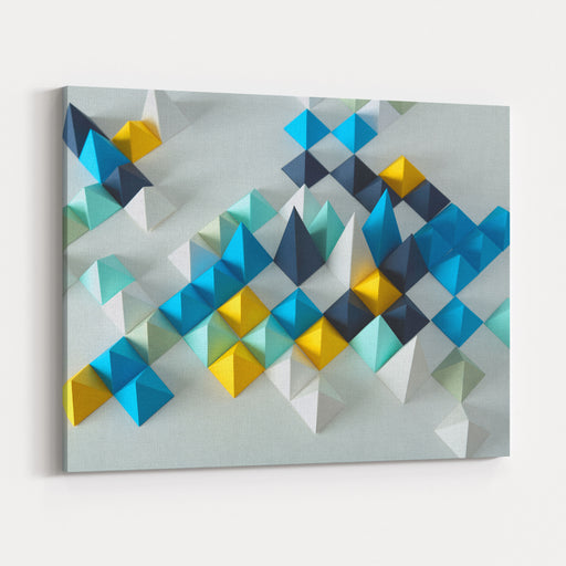 Abstract Geometric Background Canvas Wall Art Print