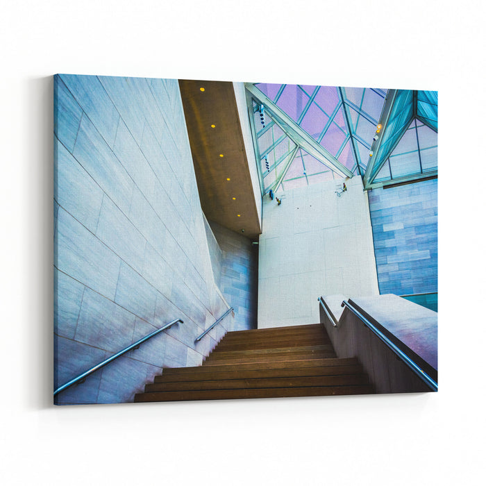 Staircase In The East Building Of The National Gallery Of Art, In Washington, DC Canvas Wall Art Print