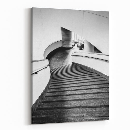 Staircase In The National Museum Of The American Indian, In Washington, DC Canvas Wall Art Print