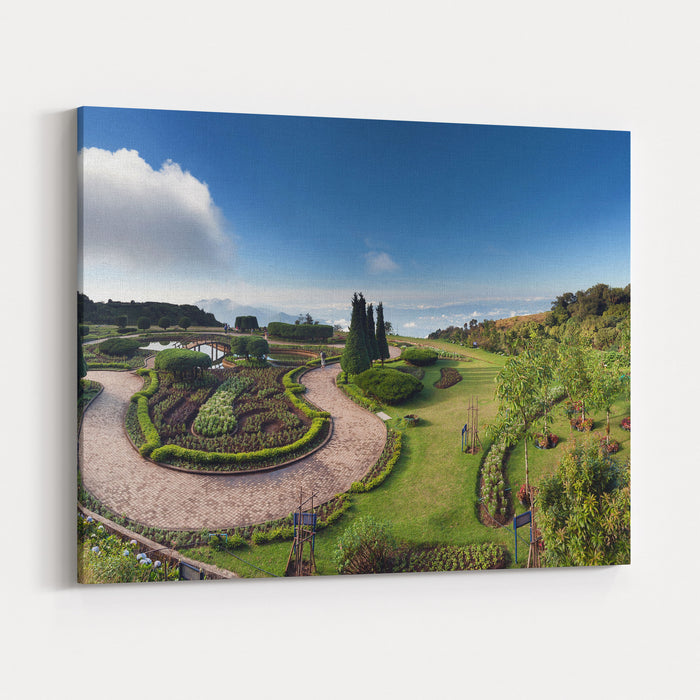Doi Inthanon National Park Panorama In Chiang Mai, Thailand Canvas ...
