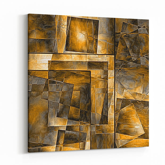 Abstract Background With Squares Canvas Wall Art Print