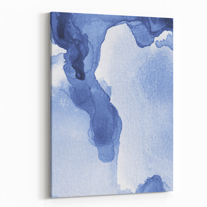 Abstract Painted Watercolor Background On Paper Texture Canvas Wall Art Print
