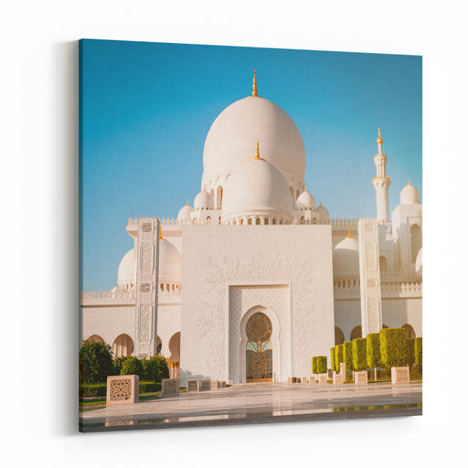 Abu Dhabi Sheikh Zayed White Mosque UAE Canvas Wall Art Print