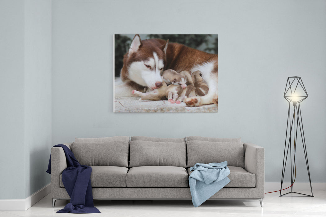 Mother And Baby Canvas Wall Art Print — Rosenberry Rooms