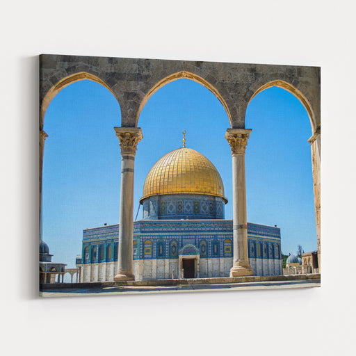 The Dome Of The Rock On The Temple Mount In Jerusalem Canvas Wall Art Print