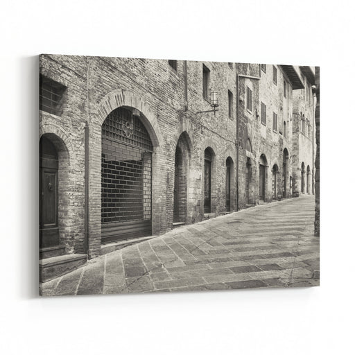 Old Town Of San Gimignano  Tuscany  Italy Canvas Wall Art Print