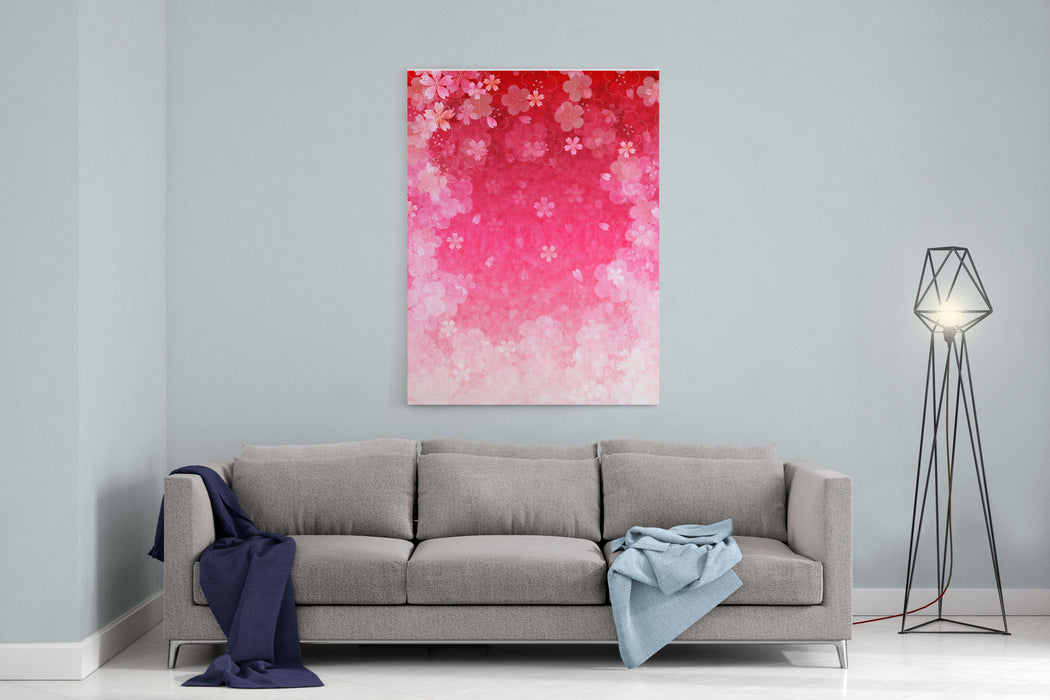 Cherry Plum Greeting Cards Canvas Wall Art Print