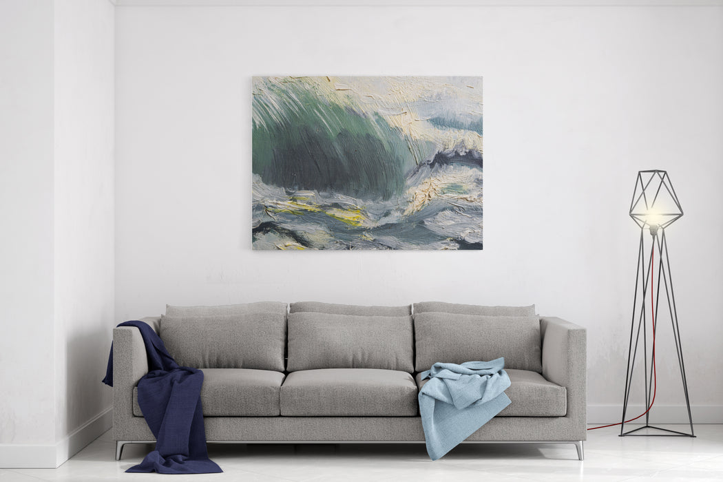Abstract Oil Painted Texture On Canvas Canvas Wall Art Print