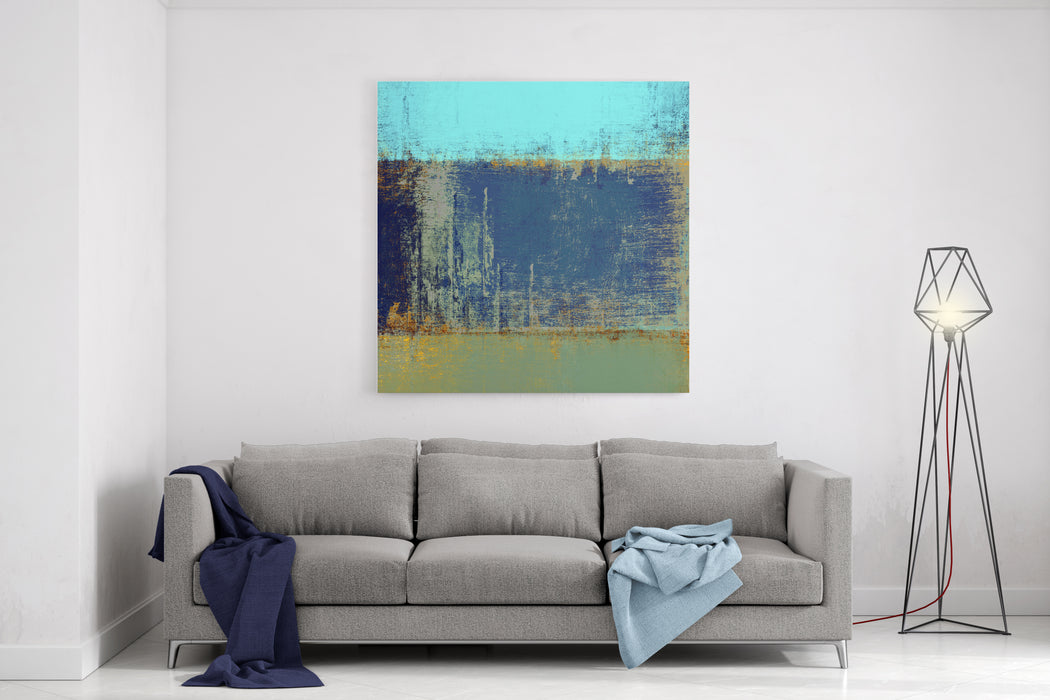 Abstract Painting Grunge Background Canvas Wall Art Print