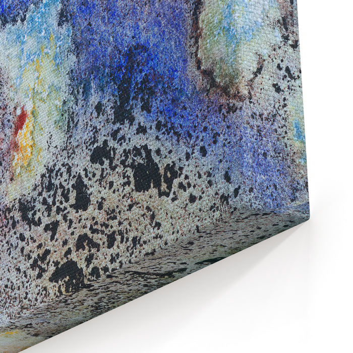 A Detail From An Abstract Painting Canvas Wall Art Print
