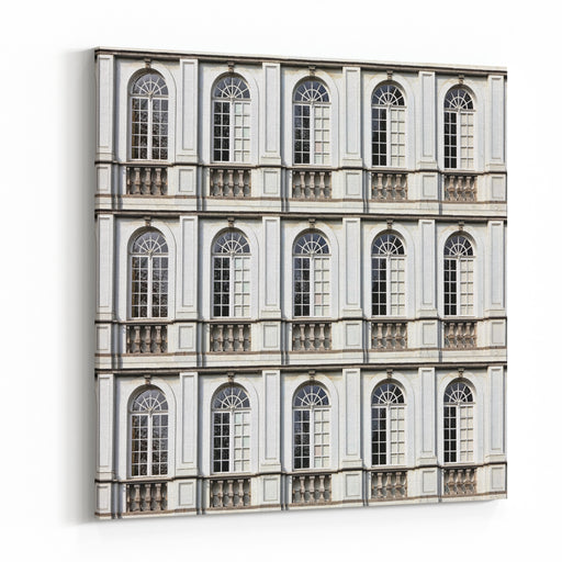 Architecture And Windows Of Ancient Renaissance Style Classical Building Canvas Wall Art Print