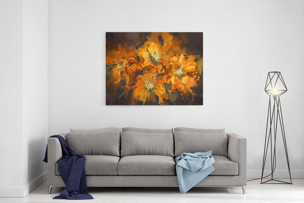 Abstract Flower Digital Painting,illustration Canvas Wall Art Print