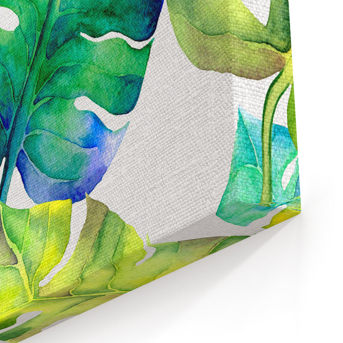 Abstract Floral Liana Watercolor Seamless Background Liana Leaves Background Can Be Used For Swimwear, Web Pages, Identity Style, Printing, Textile, Cards, Wrapping, Invitations, Etc Canvas Wall Art Print