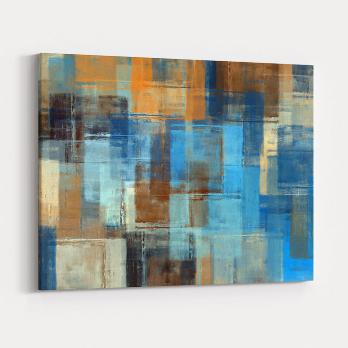 Abstract Painting Colored Grunge Background Canvas Wall Art Print