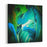 Abstract Fragment Of Oil Painting Oil On Canvas Focus On Brushstrokes Canvas Wall Art Print