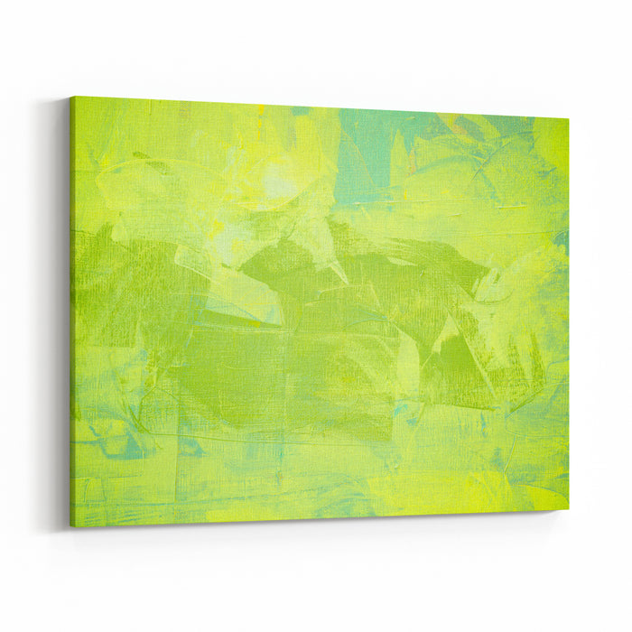 Green Color Oil Painting Texture Abstract Background Canvas Wall Art Print